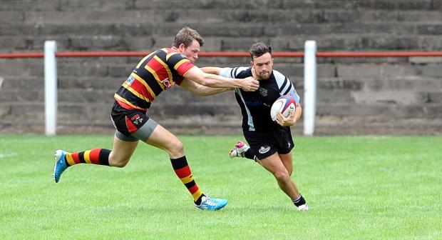 The pacy Harry Hudson scored a try for Otley in the second half