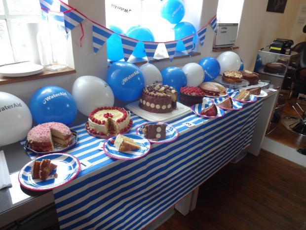 Wharfedale Observer: Some of the cakes that were baked for the WaterAid fundraiser