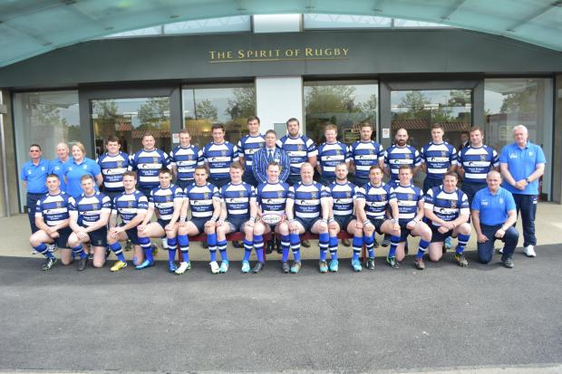 Yarnbury's squad at Twickenham