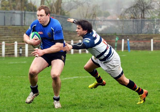 Wharfedale Observer: Centre James White's try after seven minutes put Otley in command