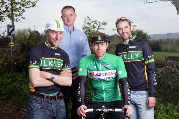 Dan Eadson from Avanti Gas with Ilkley Cycling Club team members