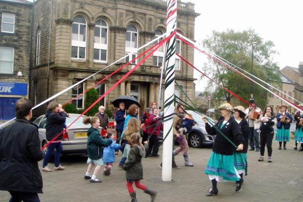 Wharfedale Observer: Rain fails to dampen Otley May Day celebrations