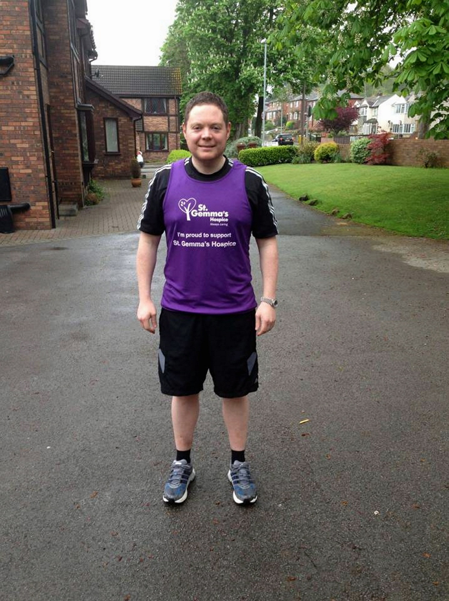 Charity runner Robin Sutton from Otley
