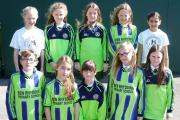 Ben Rhydding Primary School seven-a-side football team (from the left, back) Charlotte Elston, Florrie Pickering, Iona Lee-Wardell, Ellie Starr and Sara Weller. Front, Katie Meredith, Lyra Weston, Rebecca Beedel, Lily Dobson and Hope Throp