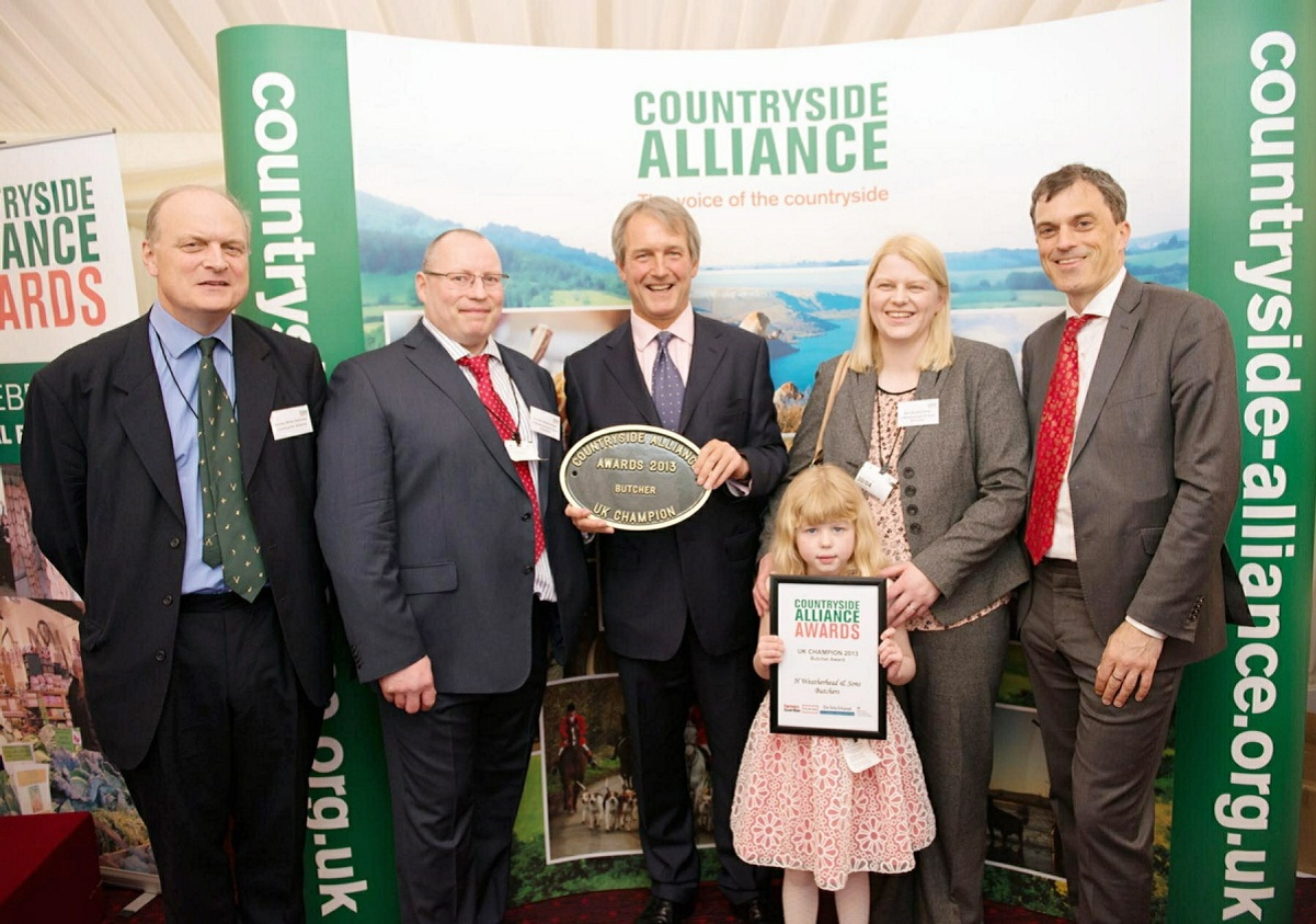 At the awards are (from the left) executive chairman Sir Barney White-Spunner, H Weatherhead & Sons' Andrew Weatherhead, Secretary of State for Defra Owen Paterson MP, Sally and Molly Weatherhead, and Skipton & Ripon MP Julian Smith
