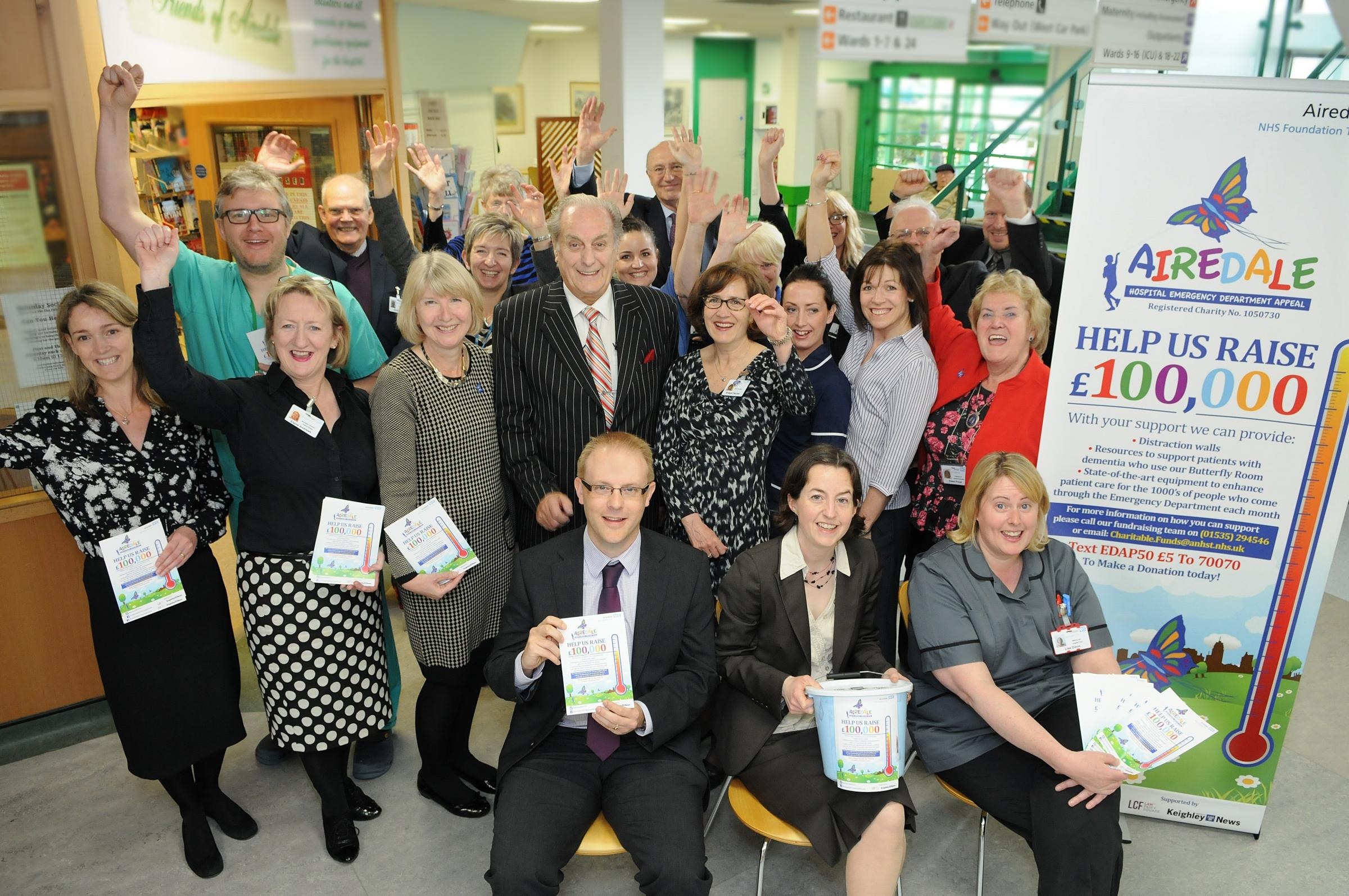 Supporters launching the appeal for £100,000 at Airedale Hospital