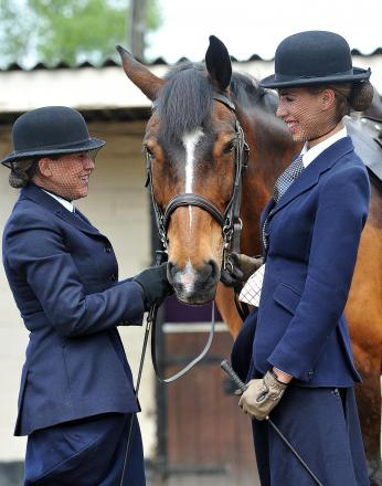 Sara Zayed and Emma Smith at Acrecliffe Equestrian Centre, Otley, ahead of the Otley Show