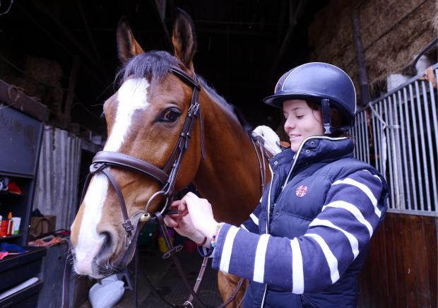 Wharfedale Observer: Bryonie Everall at Acrecliffe Equestrian Centre, Otley, ahead of the Otley Show
