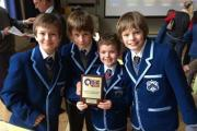 Westville's victorious quiz team, from left, Oliver Watson, ten, James Burke, nine, Caleb Shaw, eight, and Ben Clifford, ten