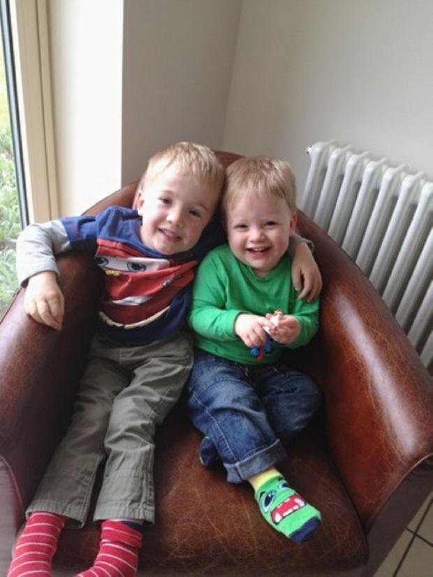 Wharfedale Observer: Sam Brown, left, with his younger brother Alex
