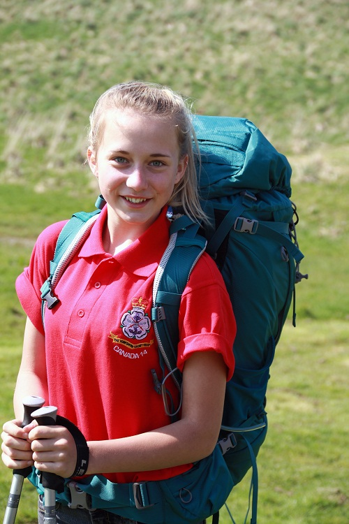Helen Winpenny, who is off to the Rocky Mountains