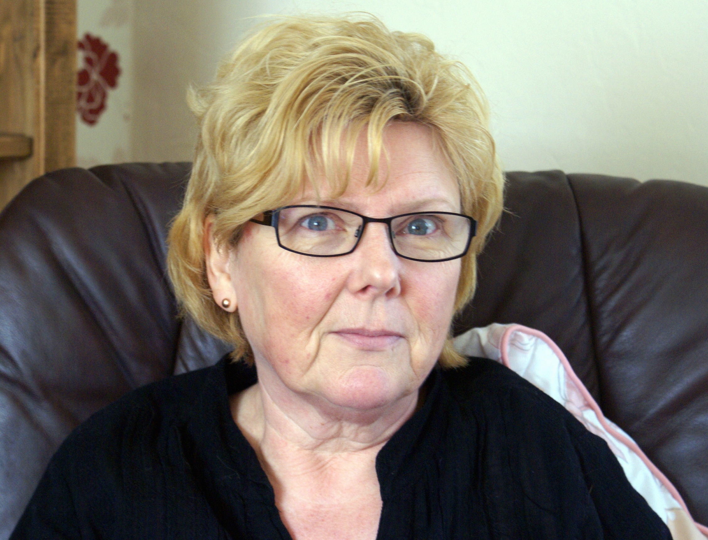 Otley hairdresser Janet Jackson back at home after a cow attack left her hospitalised.