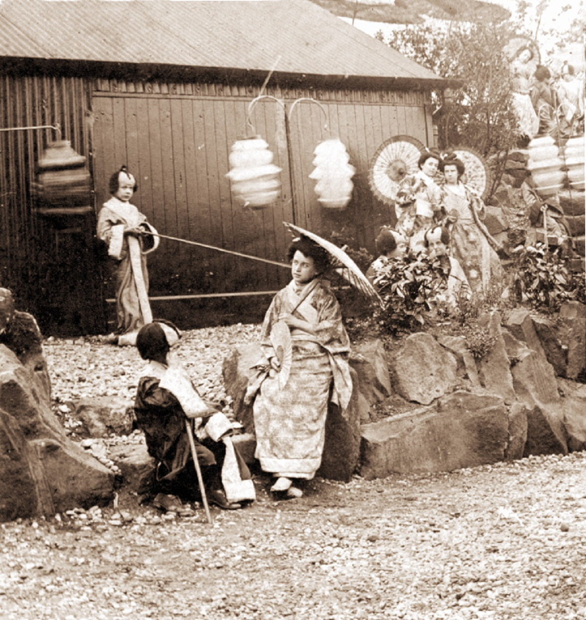 Otley's lost Japanese Gardens in their prime, around the start of the 20th Century. Picture courtesy of Otley Museum