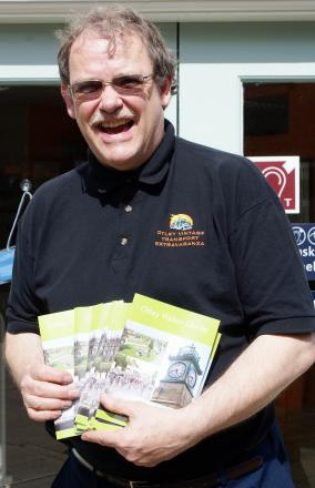 Councillor Nigel Francis with the new Otley Visitor Guide