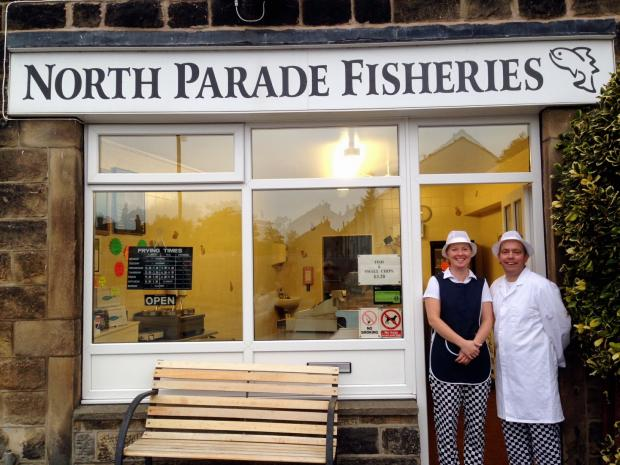 Hayley and Jonathan Hunt outside North Parade Fisheries