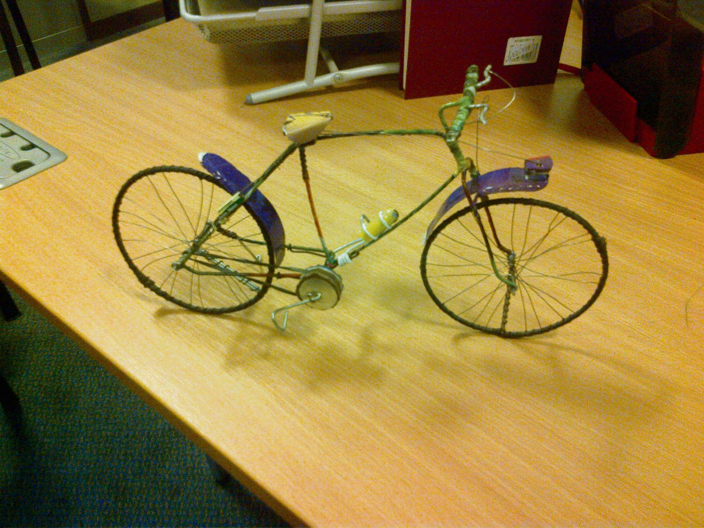 A model cycle, one of eight to be donated to Burley-in-Wharfedale, by children in Bamako, the captial of Mali. The models will be on display on Saturday, July  5 in Burley-in-Wharfedale Methodist Church.