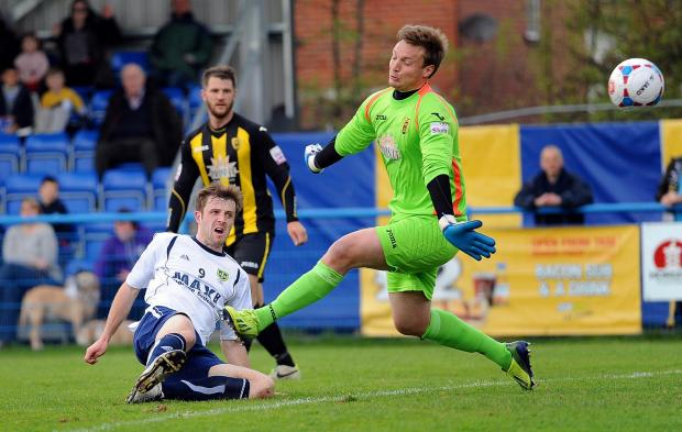 Adam Boyes scores in the home win over Gloucester City as Guiseley roared into the play-