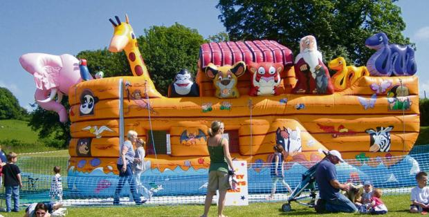 A Noah's Ark inflatable - one of the many attractions that will feature in Prince Henry's Grammar School's 2014 Community Fair.