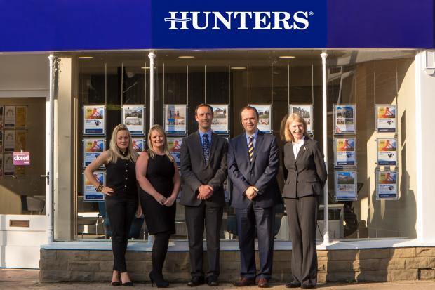 The new Hunters Otley team - (left to right) Nicole Wood, Emma Field, Andy Thornton, Lester Hurst, Liz MacPherson.