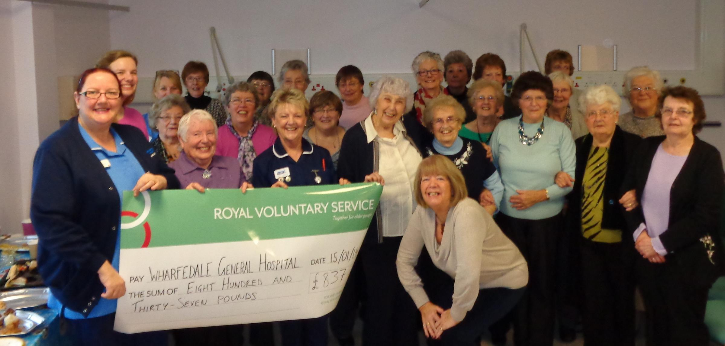 RVS volunteers and staff at Wharfedale Hospital