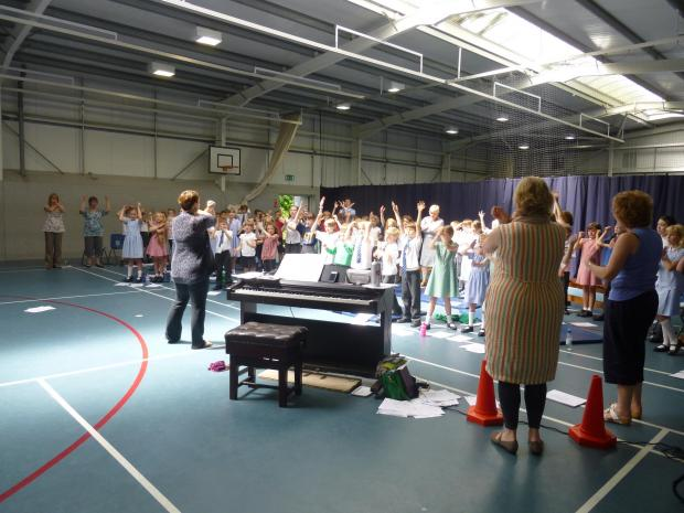The Big Sing at Westville House School in Ilkley