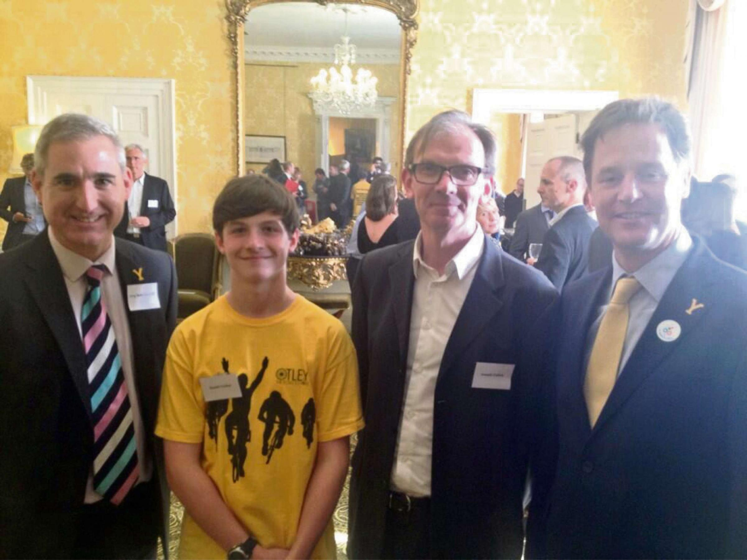 MP for Leeds North West, Greg Mulholland, co-hosts a reception in Westminster to celebrate the Tour de France coming to Yorkshire