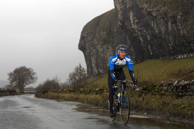 Scott Thwaites training on the Tour de France route