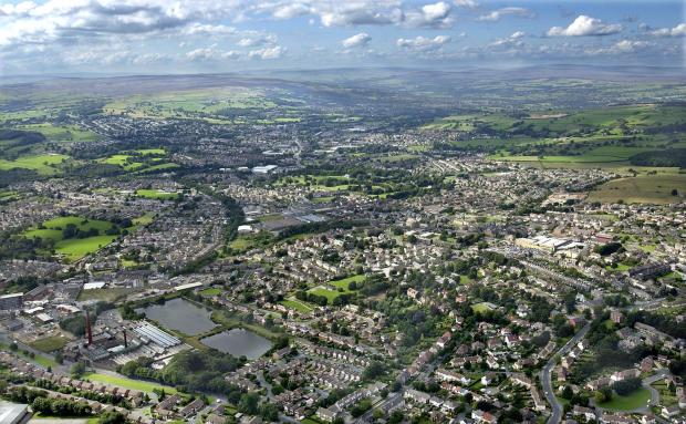 Wharfedale Observer: Aerial view of Yeadon