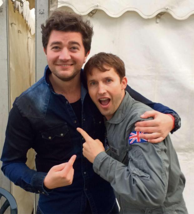 Wharfedale Observer: (7681648)Ilkley's Rupert Stroud with James Blunt