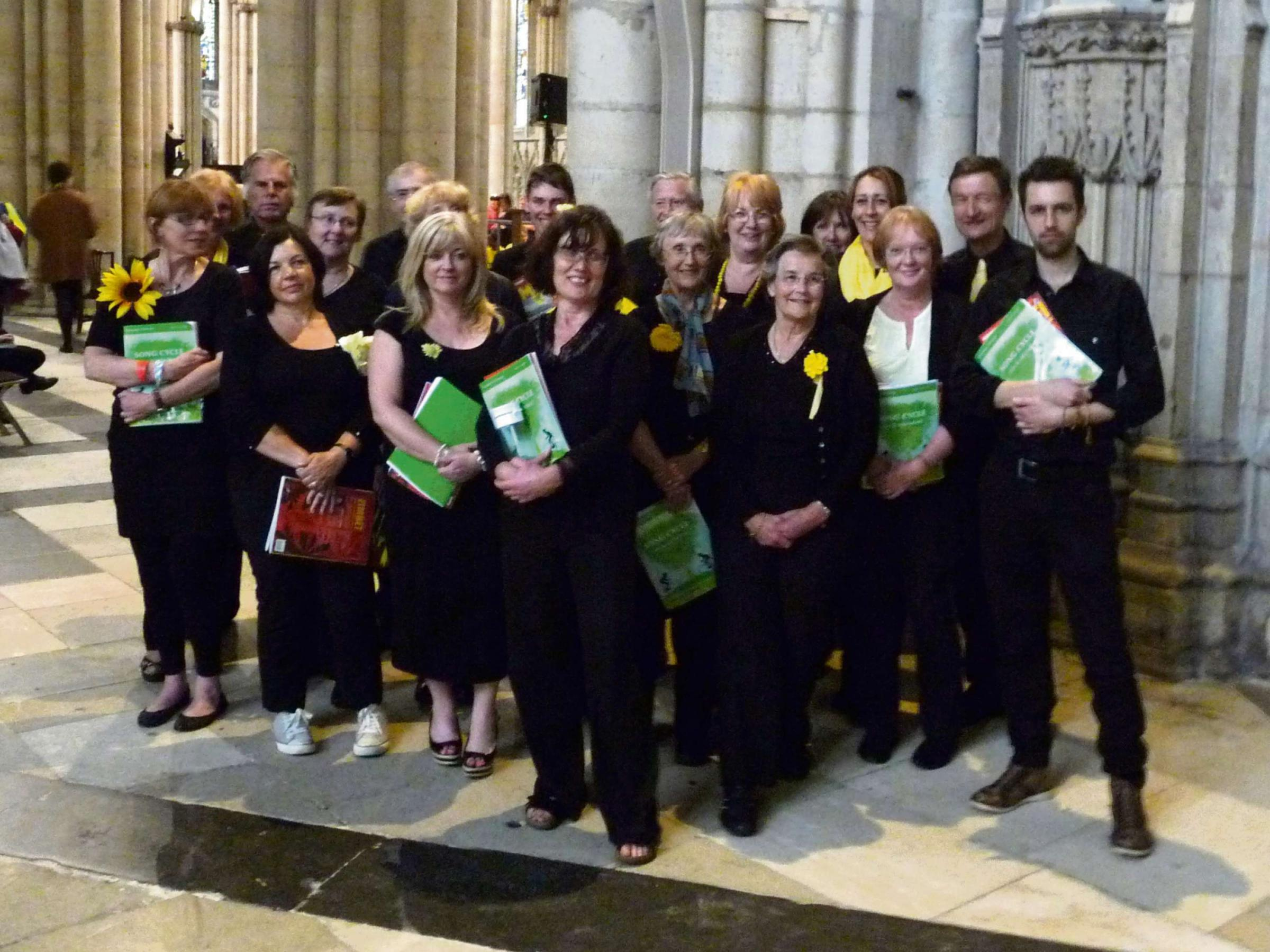 Members of Cantores Olicanae at York Minster