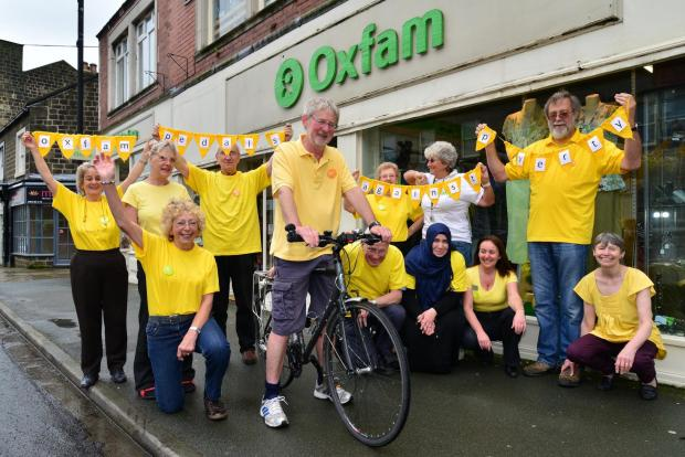 Volunteers at Otley's Oxfam shop will be clocking up the miles for their latest, Tour de France inspired, fundraiser.