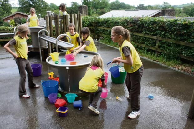 Wharfedale Observer: (7329106)Brownies taking part in activities at Nell Bank in Ilkley