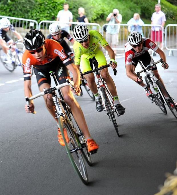 Wharfedale Observer: Lizzie Armitstead rode in the first Ilkley town centre cycle races