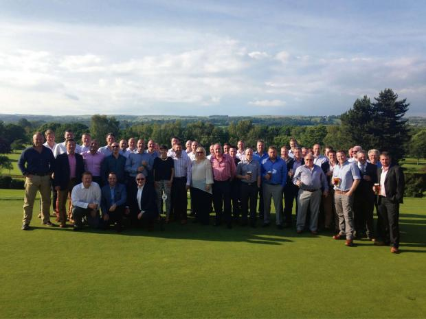 The competing teams enjoying the sunshine following the 2014 KM Norris Ltd and Strasse Porsche Specialists UK Ltd charity golf day at Otley Golf Club. The annual event has now raised more than £30,000 for the Alzheimer's Society.