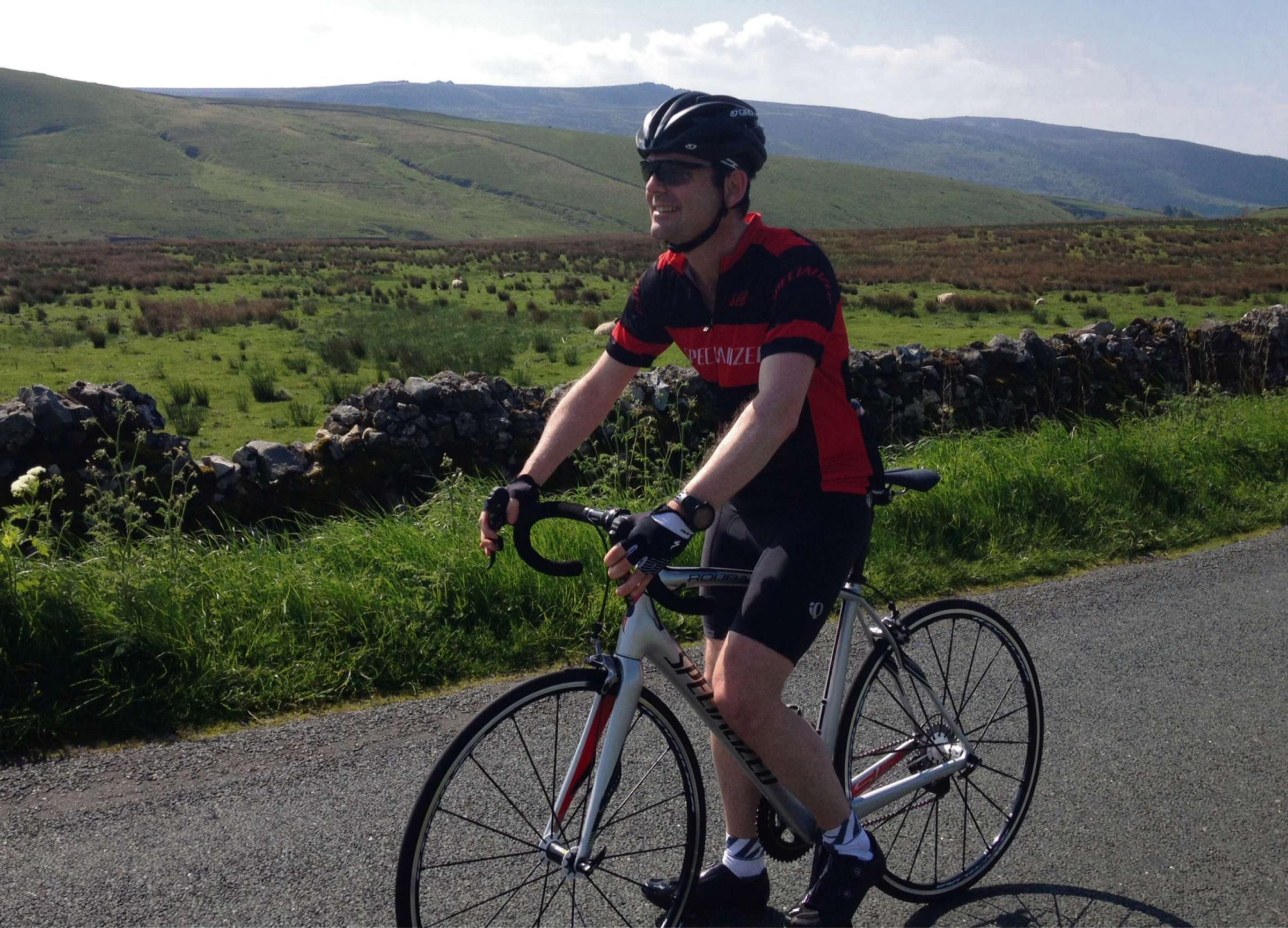 lkley resident takes on his own 'Tour de France' challenge for charity