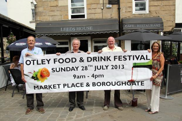 submitted pix: Caption: Members of Otley Town Partnership and Otley Farmers' Market, left to right Peter Heald, Allan Robinson, Malcolm Hughes and Jane Chidley, are looking forward to staging Otley's very first Food and Drink Festival. (9057008)