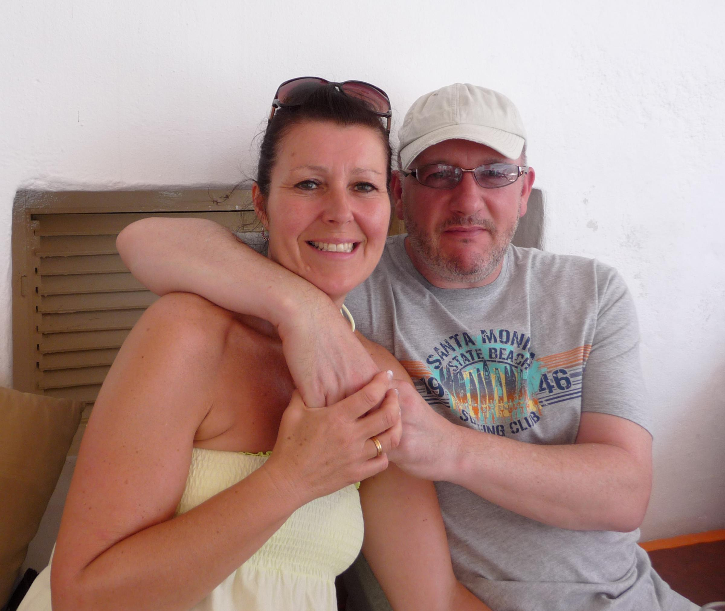 Dave Howarth with his wife Cath