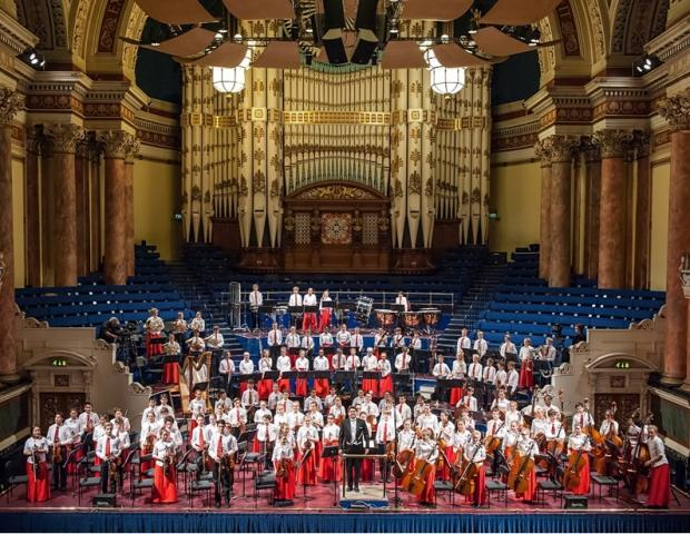 The National Children's Orchestra (Under 13s) at Leeds Town Hall