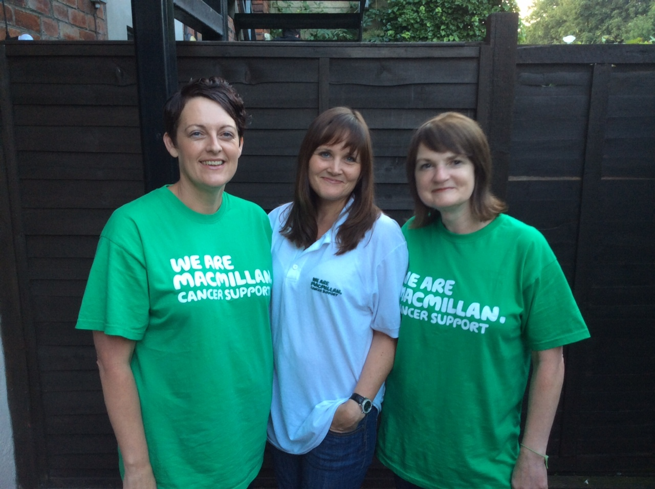 Aileen, left , with Karen, centre, and Joanne.