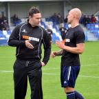 Wharfedale Observer: Guiseley boss Mark Bower makes a point