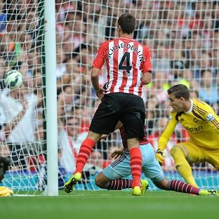 Morgan Schneiderlin scores his second goal of the aftern