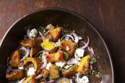 BUTTERNUT Squash with Red Onion, Feta & Coriander featured in Spice: Layers Of Flavour by Dhruv Baker, published by Weidenfeld & Nicolson.