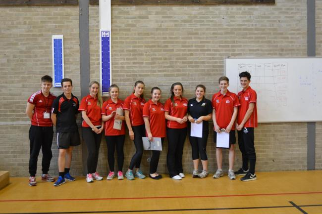 Young sports leaders from St Mary's School in Menston and Leeds Trinity
