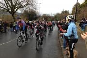 People lined the streets of Otley to cheer on the Craig's Tribute ride. Picture by Colin Campbell.