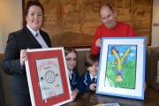 Last year's carnival creative winner's Abigail Boggs and Hugo Baxter get creative in Bettys Café Tea Rooms (L-R) Keri Parker, Abigail Boggs, Hugo Baxter and Andrew Stacey