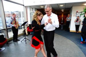 Father to put his best foot forward and imitate icon in charity dance
