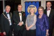 Pictured are Councillor Andrew Walbank, Councillor Mike Gibbons, Dr Sue Butler, Elizabeth Sharp and Pete Butler.