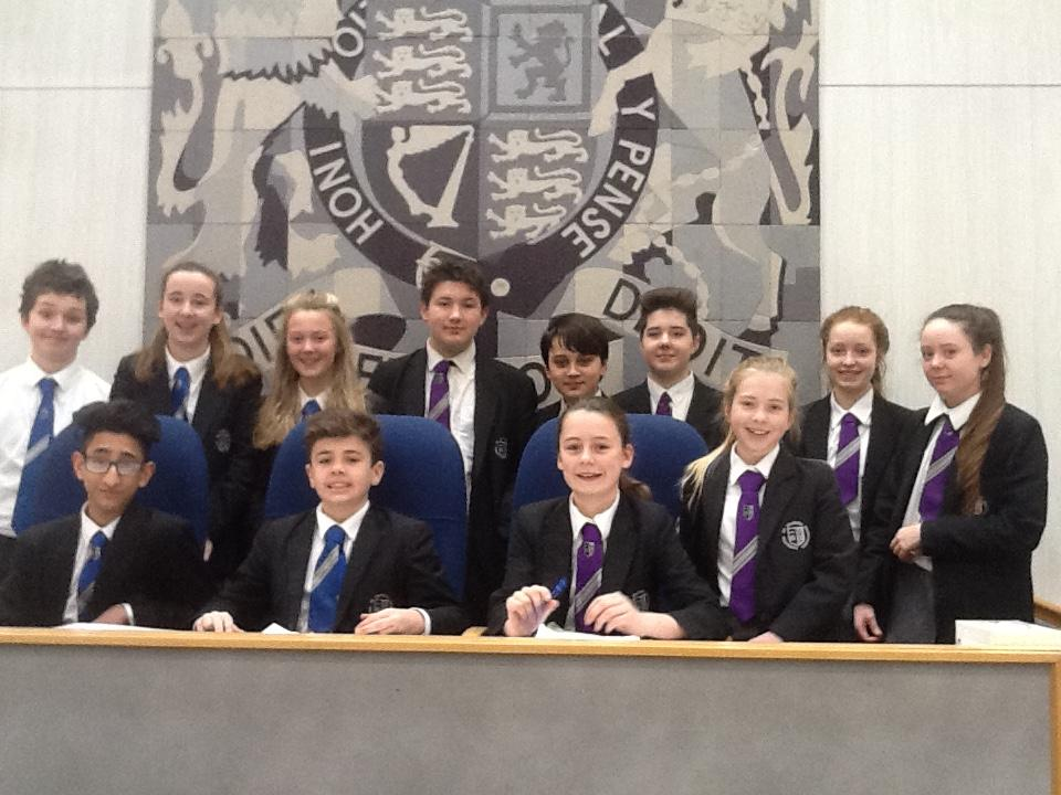 Ilkley Grammar School students (top row left to right) Oli Greaves, Imogen Parton, Sophie Armitage, Jonathon Kelly, Danny Leach, Nathanael Perkins, Amber Woffinden and Katherine McKeefry, and (bottom row left to right) Ayman Siraj-Gill, Harry Watson, Hatt