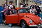 Some of the cast of GAOS production of Footloose with the classic 1971 VW 1200.