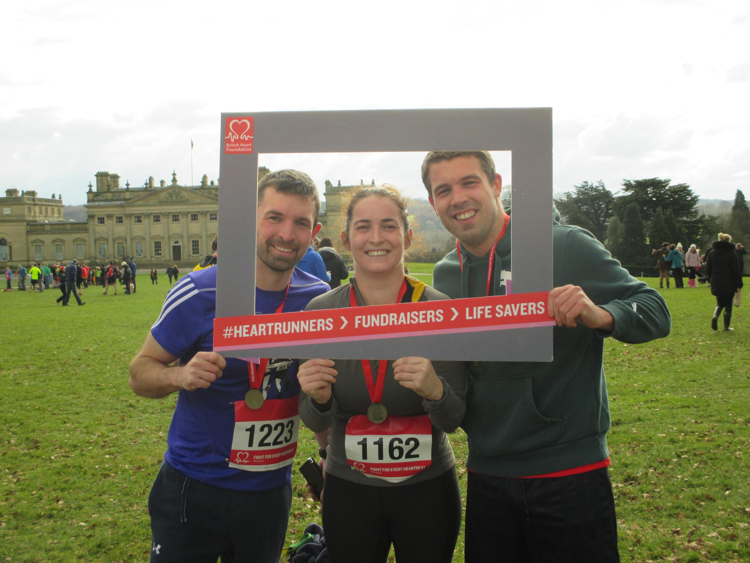 Runners who took part in the Harewood House half marathon to raise money for the British Heart Foundation
